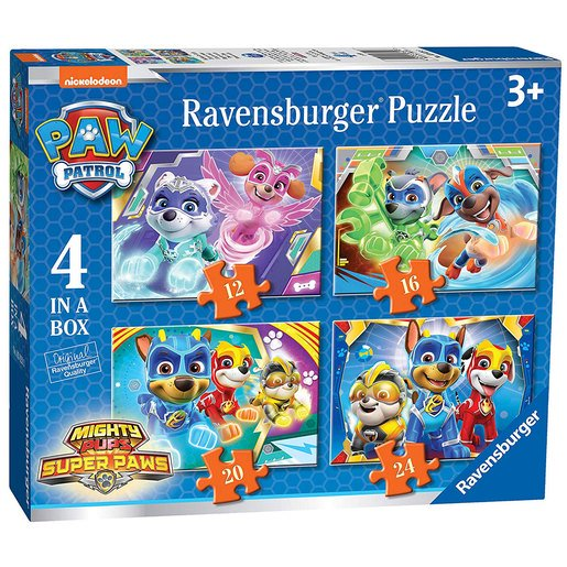 Picture of Ravensburger Paw Patrol Mighty Pups Super Paws 4 in a Box Puzzle