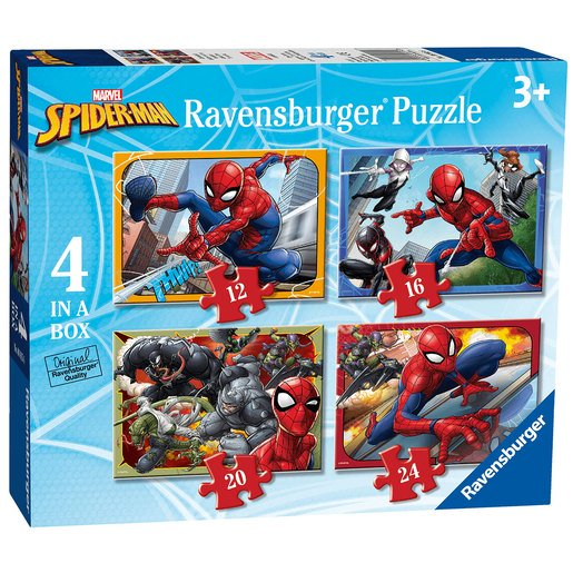 Picture of Ravensburger 4 In A Box Jigsaw Puzzle Spider-Man (Styles Vary)