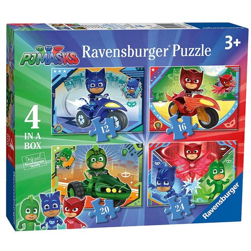 Picture of Ravensburger 4-in-1 Box Jigsaw Puzzles - PJ Masks