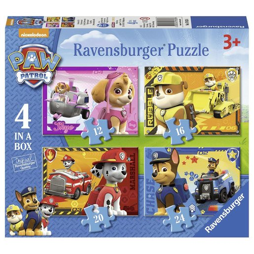 Picture of Ravensburger 4 in a Box Jigsaw Puzzle - Paw Patrol