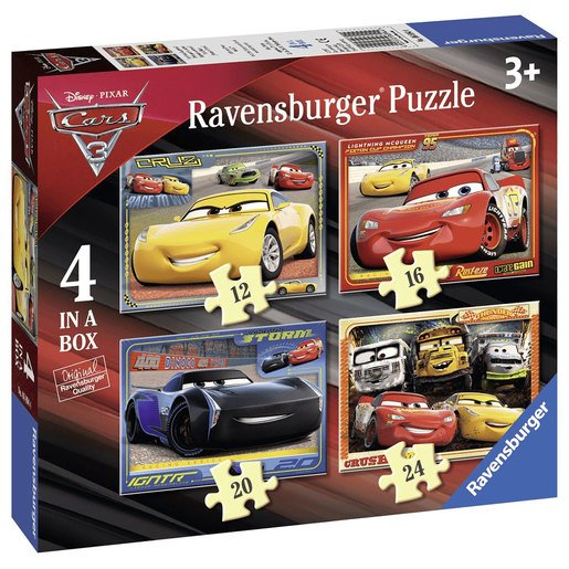 Picture of Ravensburger Cars 3 - 4 In A Box Jigsaw Puzzle