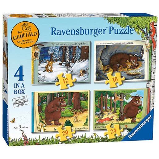 Picture of Ravensburger 4 in a Box Jigsaw Puzzle - The Gruffalo