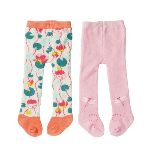 Picture of Baby Annabell Tights 2 Pack For 43cm Doll - Pink and Peach