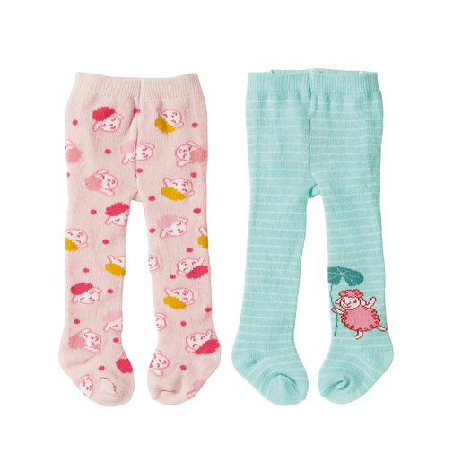 Picture of Baby Annabell Tights 2 Pack For 43cm Doll - Pink and Turquoise