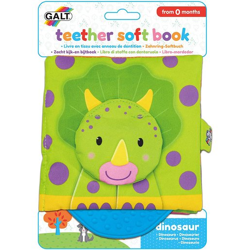 Picture of Galt Teether Soft Book - Dinosaurs