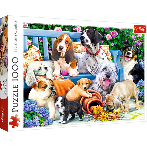 Picture of Trefl Dogs In The Garden Puzzle - 1000pcs.