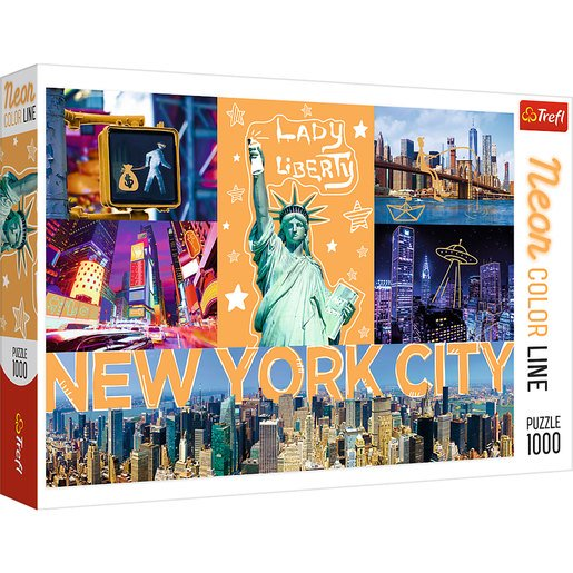 Picture of Trefl Neon Colour Line New York Puzzle - 1000pcs.