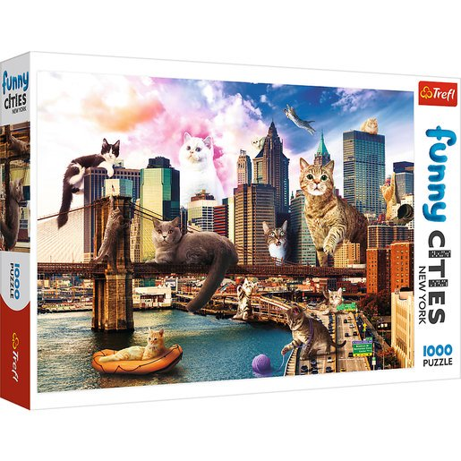 Picture of Trefl Funny Cities Cats In New York Puzzle - 1000pcs.