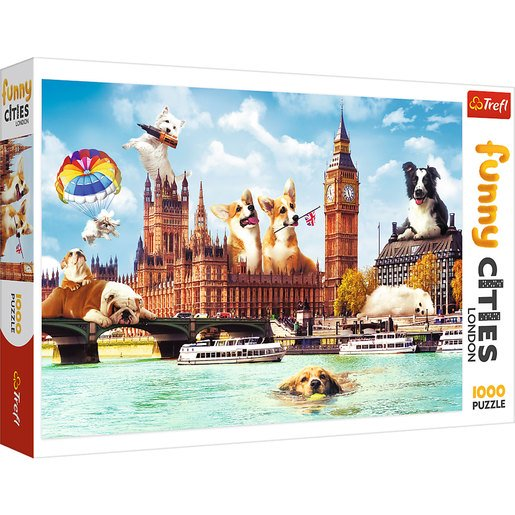 Picture of Trefl Funny Cities Dogs In London Puzzle - 1000pcs.