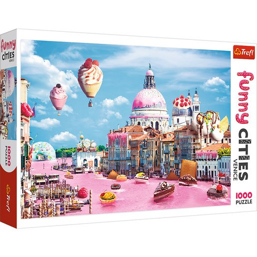 Picture of Trefl Funny Cities Sweets In Venice Puzzle - 1000pcs.