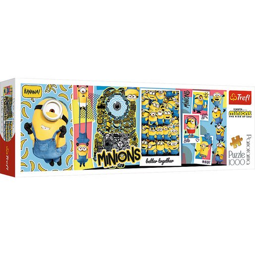 Picture of Trefl Minions The Rise Of Gru Panorama Puzzle - 1000pcs.