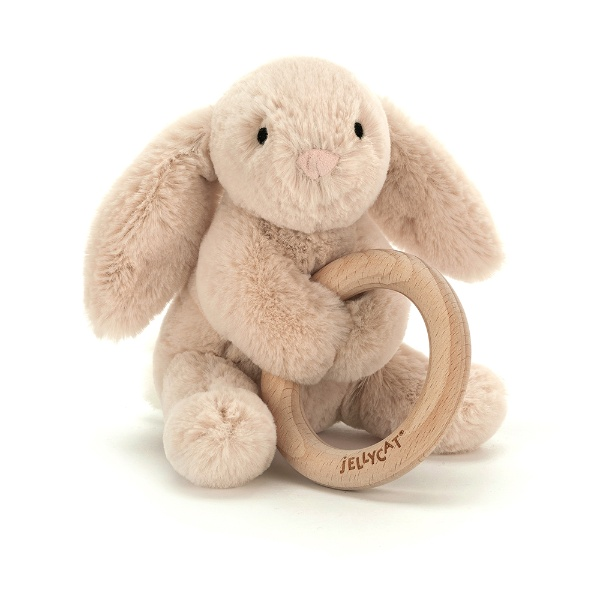 Picture of Jellycat Shooshu Bunny Wooden Ring Toy