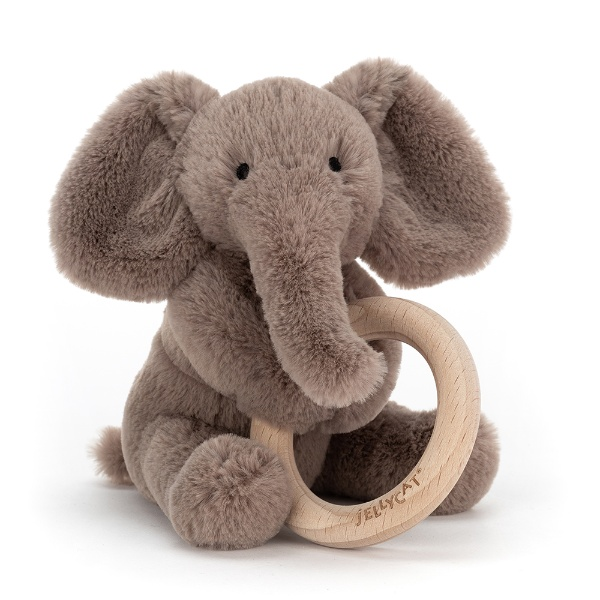 Picture of Jellycat Shooshu Elephant Wooden Ring Toy
