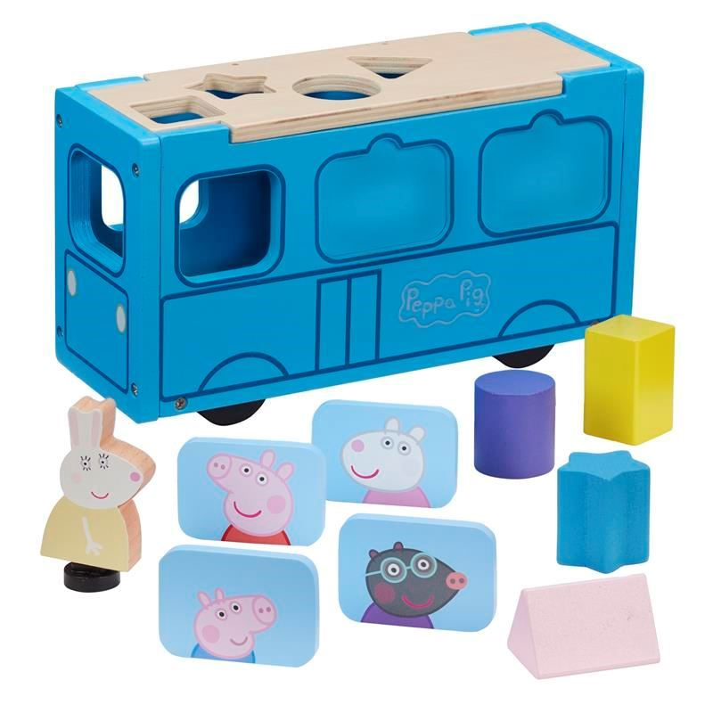 Picture of Peppa Pig Wooden School Bus