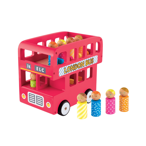 Picture of Early Learning Centre Wooden Double Decker Bus