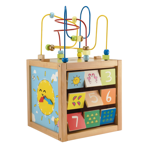 Picture of Early Learning Centre Giant Wooden Activity Cube - Blue