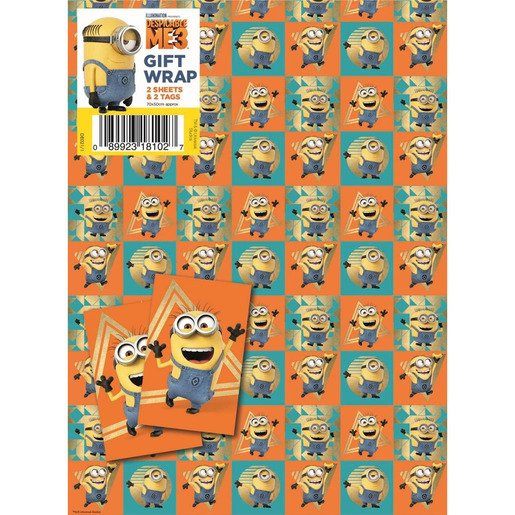 Picture of Despicable Me 2 Wrapping Paper - 2 Sheets and 2 Tags