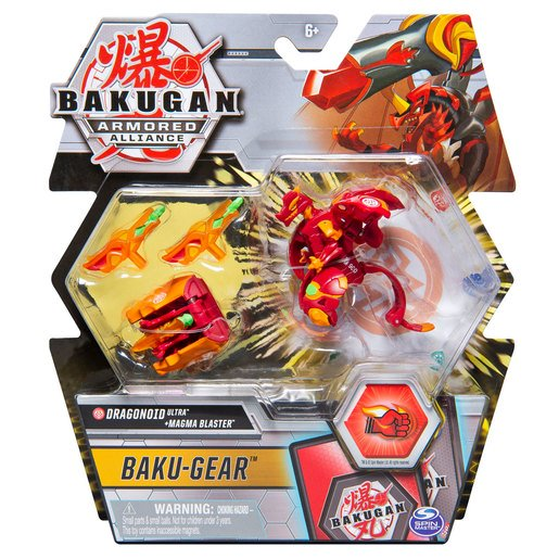 Picture of Bakugan Armoured Alliance Baku-Gear - Dragonoid Ultra and Magma Blaster