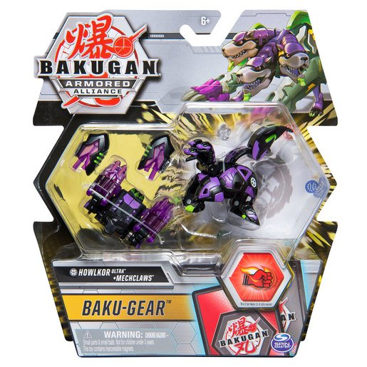 Picture of Bakugan Armoured Alliance Baku-Gear - Howlkor Ultra and Mechclaws