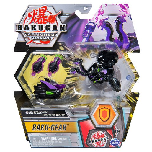 Picture of Bakugan Armoured Alliance Baku-Gear - Nillious Ultra and Scorching Swords