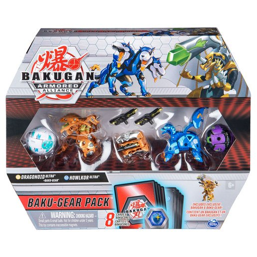 Picture of Bakugan Armoured Alliance Baku-Gear Pack - Dragonoid and Howlkor