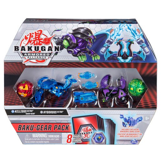 Picture of Bakugan Armoured Alliance Baku-Gear Pack - Nillious and Hydorous