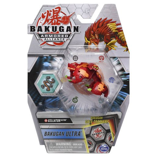 Picture of Bakugan Armored Alliance Ultra Trading Card and Figure - Gillator