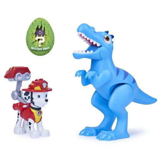 Picture of Paw Patrol Dino Rescue Figures and Mystery Dinosaur - Marshall and Velociraptor