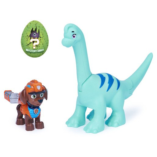 Picture of Paw Patrol Dino Rescue Figures and Mystery Dinosaur - Zuma and Brontosaurus