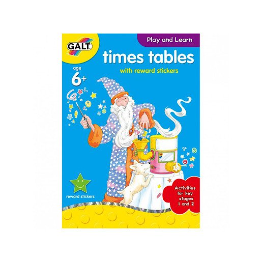 Picture of James Galt Play and Learn Times Tables with Reward Stickers
