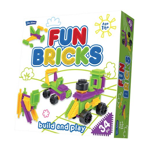 Picture of Fun Bricks Build and Play - 34pc