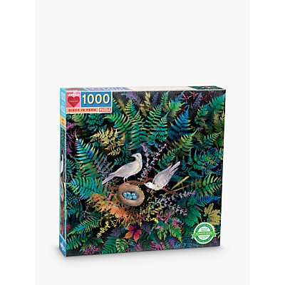 Picture of eeBoo Birds in Fern Jigsaw Puzzle, 1000 Pieces