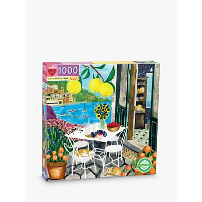 Picture of eeBoo Cats in Positano Jigsaw Puzzle, 1000 Pieces