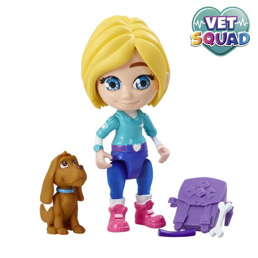 Picture of Vet Squad Figures - Emily & Brooke The Dog