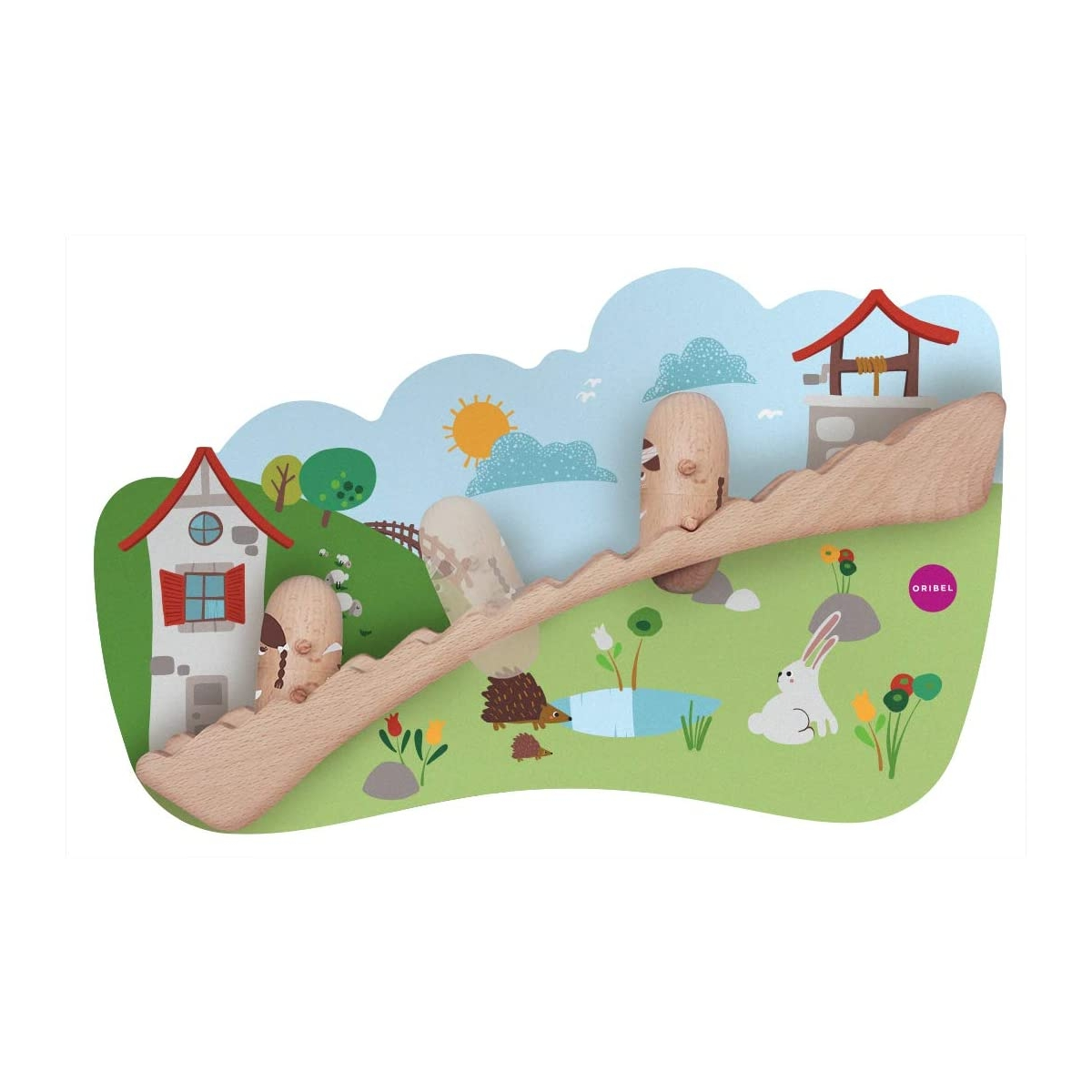 Picture of Oribel VertiPlay Wooden Wall Toys -Jack & Jill