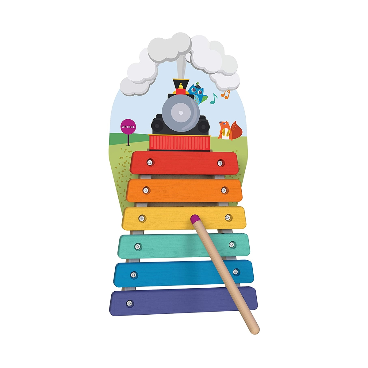 Picture of Oribel VertiPlay Wooden Wall Toys-Musical Rail Track