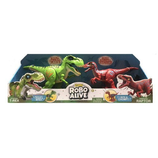 Picture of Robo Alive Dinosaurs - Green T-Rex And Red Raptor