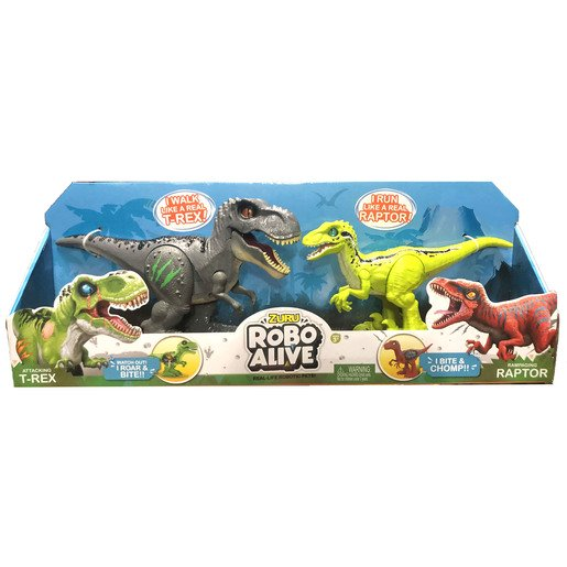 Picture of Robo Alive Dinosaurs - Grey T-Rex And Green Raptor
