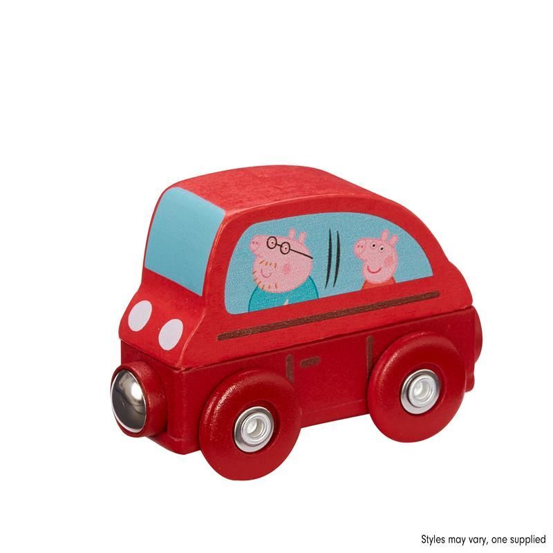 Picture of Peppa Pig Wooden Mini Vehicles - Red Car toy