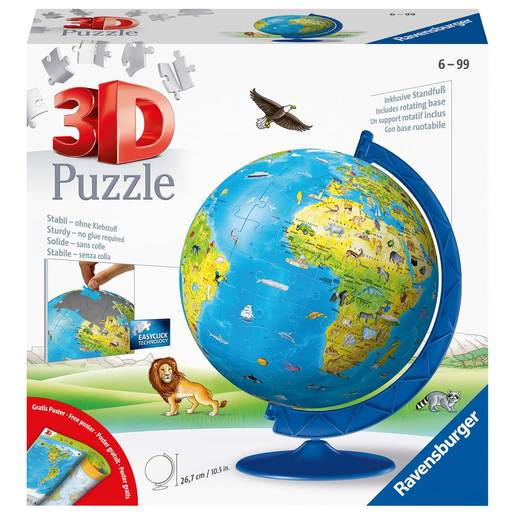 Picture of Ravensburger Childrens World Globe 3D Jigsaw Puzzle - 180pc