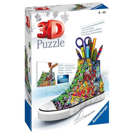 Picture of Ravensburger Graffiti Sneakers 3D Jigsaw Puzzle - 108pc