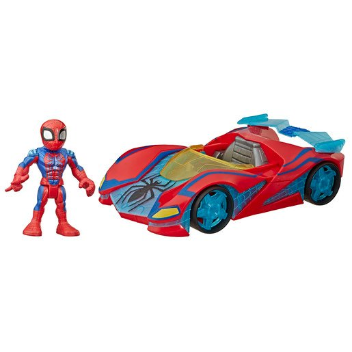 Picture of Playskool Marvel Super Hero Adventures Vehicle and Figure - Spider Man