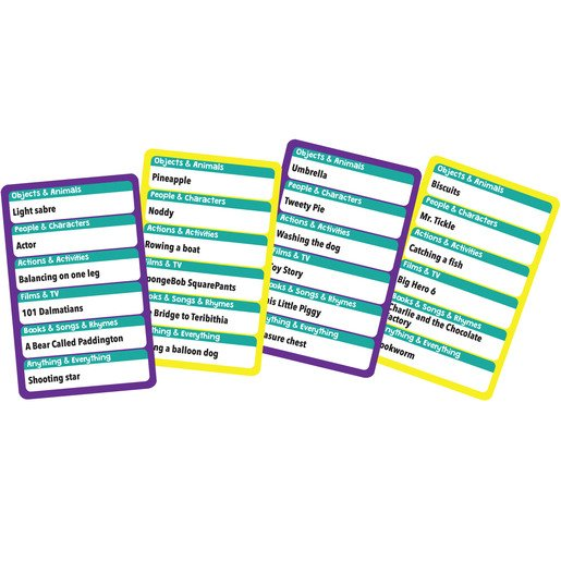 Picture of Kids Charades Card Game