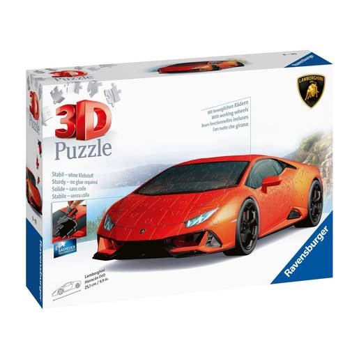 Picture of Ravensburger Lamborghini Huracan 3D Jigsaw Puzzle - 108pc