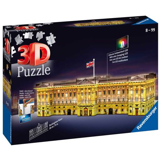 Picture of Ravensburger Buckingham Palace - Night Edition 3D Jigsaw Puzzle -  216pc