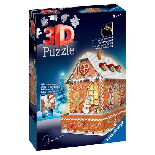 Picture of Ravensburger Christmas Gingerbread House 3D Jigsaw Puzzle - 216pc