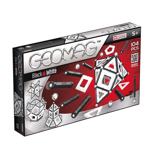 Picture of Geomag Classic Black & White Construction Set – 104pc