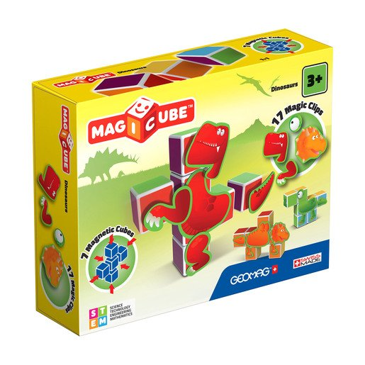 Picture of Geomag Magicube Dinosaurs Construction Set