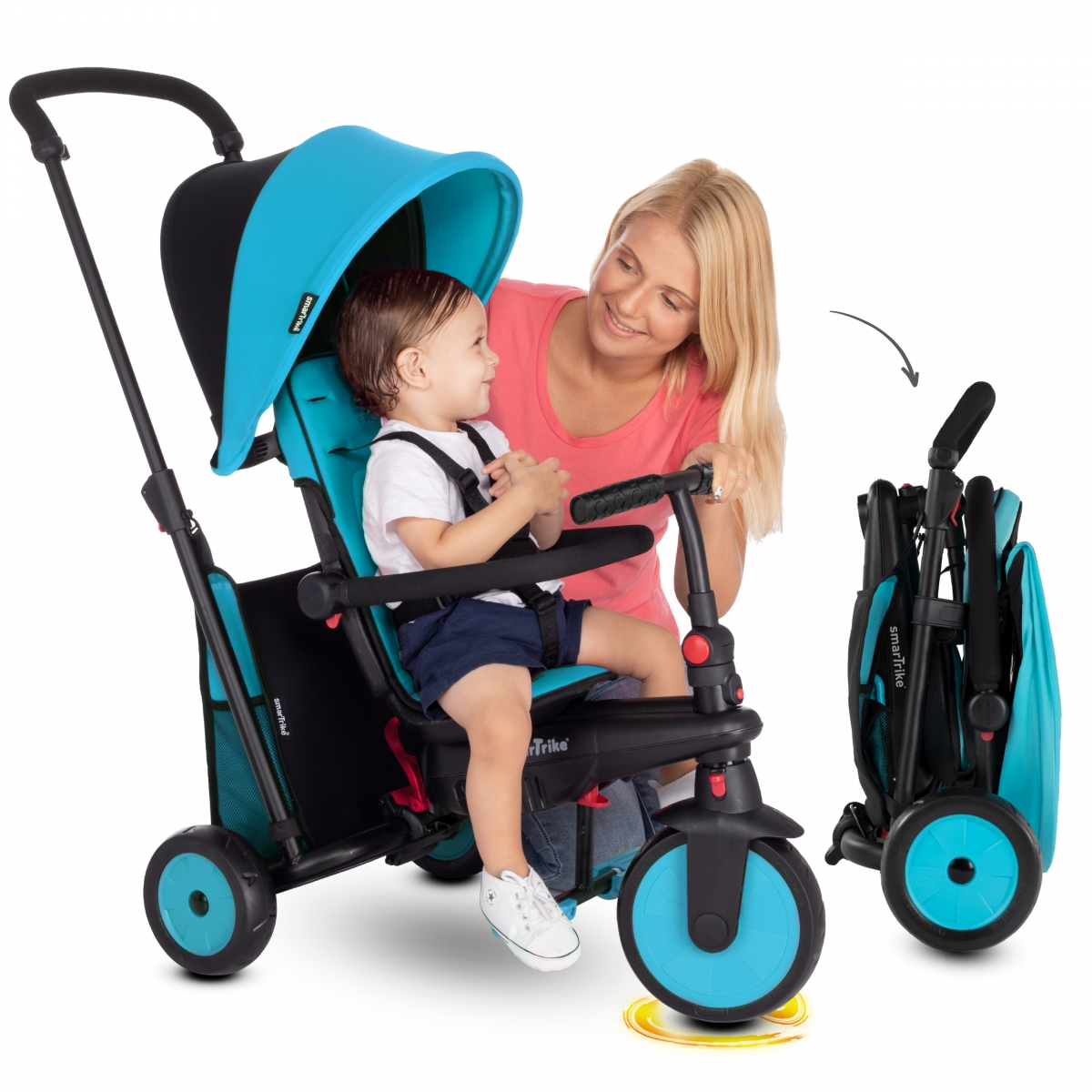 Picture of SmarTrike 6in1 Folding Baby Tricycle STR3-Blue (NEW)
