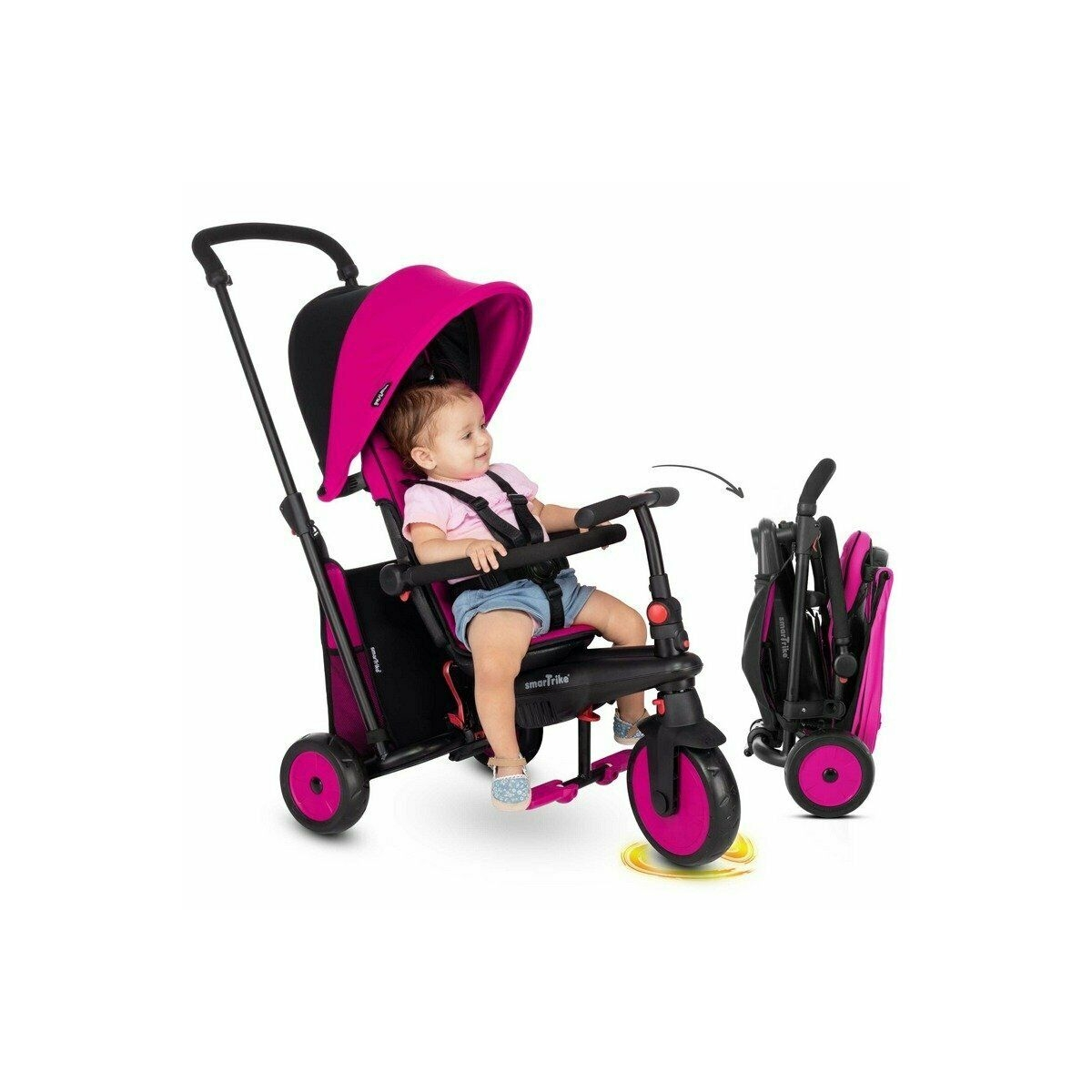 Picture of SmarTrike 6in1 Folding Baby Tricycle STR3-Pink (NEW)